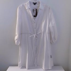 NWT WHITE BUTTON DOWN TUNIC
